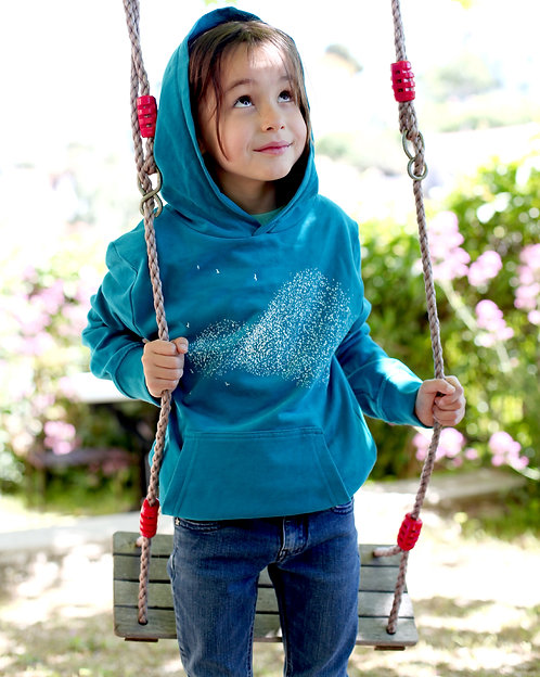 Riou atelier - sweat blue océan enfants