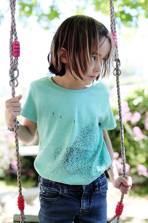 Riou atelier  - t-shirt vert enfants