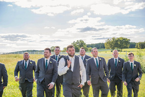 Wedding party photography at Eighteen Ninety Event Space in Kansas City, Missouri.   Photo by Felicia the Photographer.