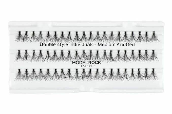 Double Style Individual Medium Knotted Lashes