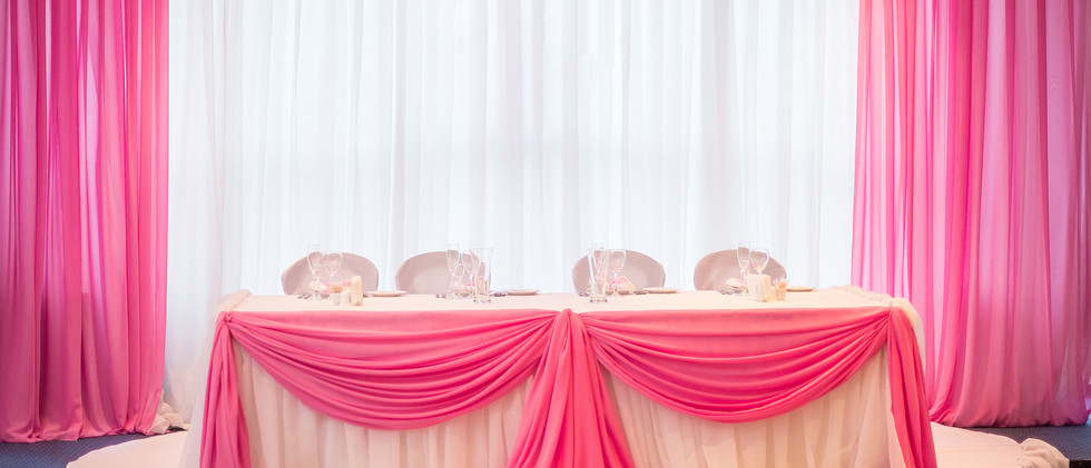 White and Pink Backdrop