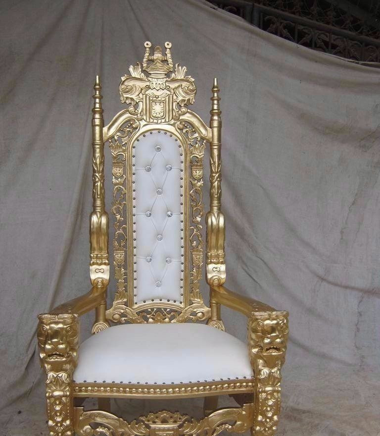 Gold King Throne Chair
