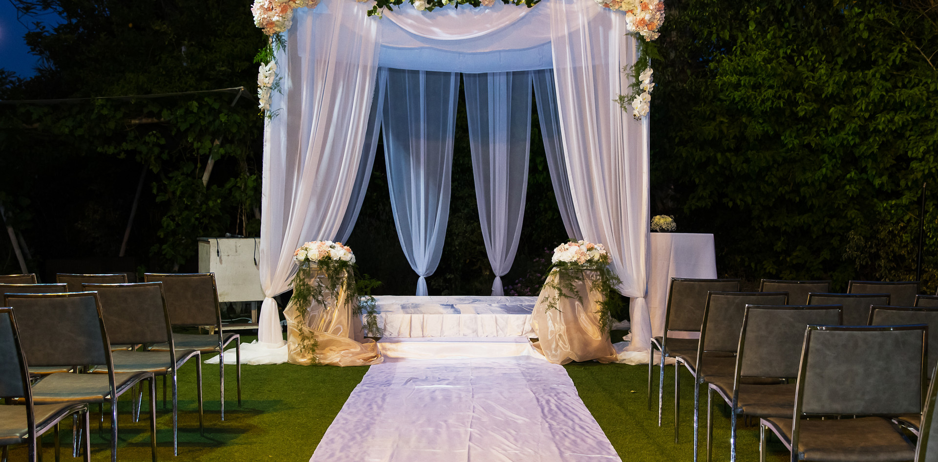 4 Point Canopy with Florals