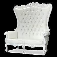 White Throne Loveseat