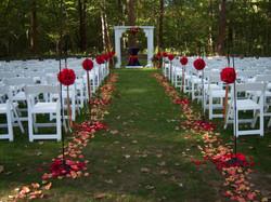 Wedding Ceremony with Fresh Flowers