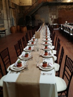 Wedding Guest Table with Burlap