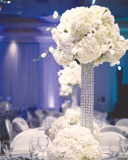 Bling Centerpiece with Fresh Flowers