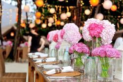 Fresh pink garden