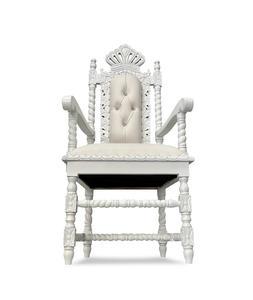 """54"""" White Chair"""