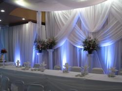 White Wedding Drape