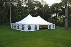 40 x 60 White Wedding Tent with Wind