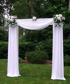 Scraf Wedding Arch in White