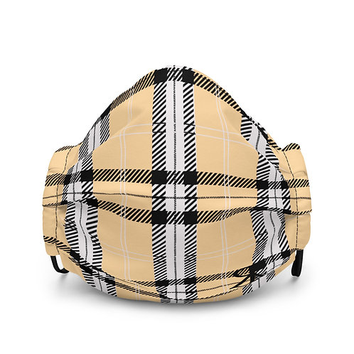 Plaid Face Mask (Yellow)