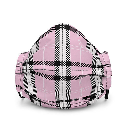 Plaid Face Mask (Pink)