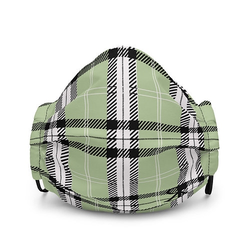 Plaid Face Mask (Green)