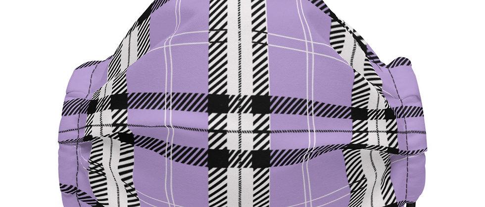 Plaid Face Mask (Purple)