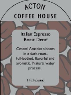 Italian Espresso Roast Decaf