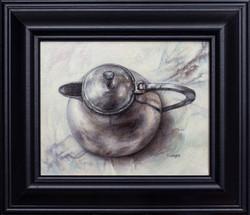 Grey on Grey Still Life with an Art Deco Pot