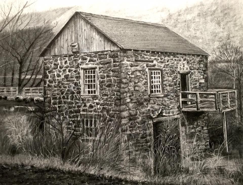 Cheryl Popek Charcoal Drawing