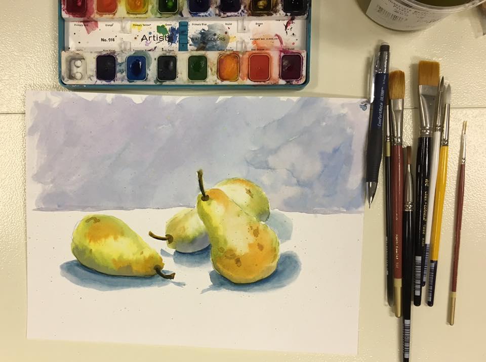 Carla Binder Watercolor Pears