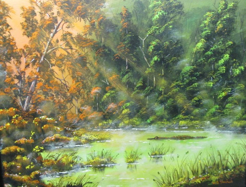 Wayne Yurchak acrylic landscape