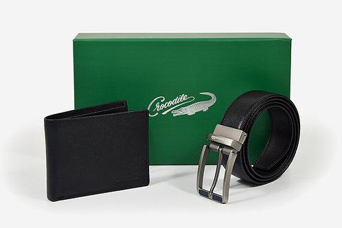 CROCODILE Belt+Wallet  Set(A4/A5/A6)