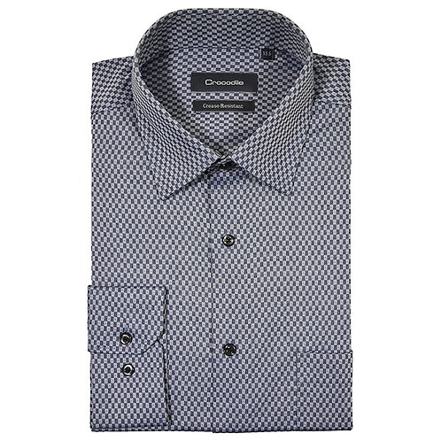 Crocodile 100% Long Sleeve Shirt (Modern Fit)