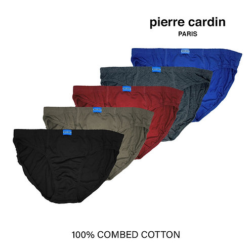 Pierre Cardin  5 Pieces Pack 100% Combed Cotton Tanga Briefs