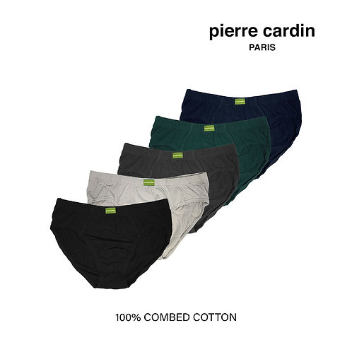 Pierre Cardin 5 Pieces Pack 100% Combed Cotton Hipster Briefs