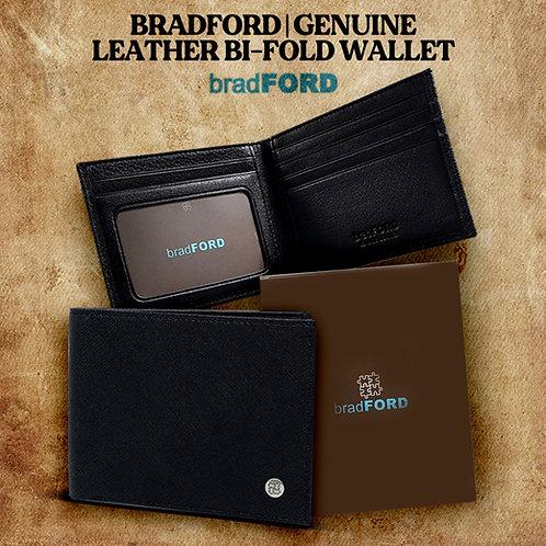 bradFORD Genuine Leather Bi-Fold Wallet