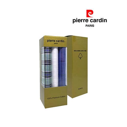 Pierre Cardin 3 Pieces Pack 100% Cotton Mens Handkerchief