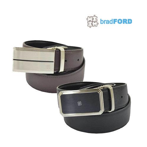 bradFORD Reversible Buckle Genuine Leather Mens Belt