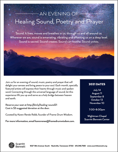 Evening Of Healing Sound, Poetry & Prayer