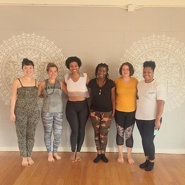 A beautiful group of yoginis that joined me for my monthly Full Moon Flow at Liberation Yoga!I am grateful for the rich diversity and inclusive space I cultivate in my classes
