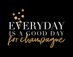 """Everyday is a good day for Champagne"" Haylo Indigo Design T-shirt"