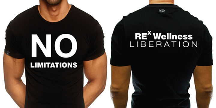 Rex Wellness No Limitations t-shirt by designsparkz