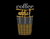 """Coffee Addict"" Haylo Indigo Design T-shirt"