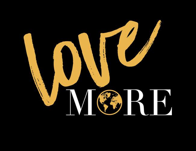 """Love MORE"" Haylo Indigo Design T-shirt"
