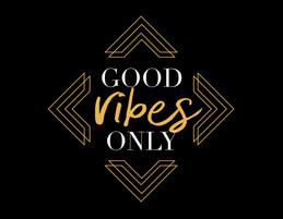 """Good Vibes Only"" Haylo Indigo Design T-shirt"