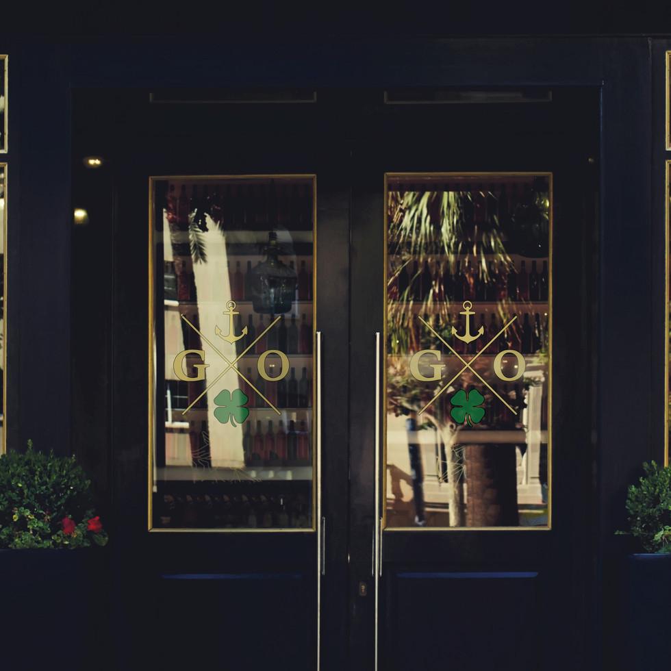 Grace O'Malley's Door Decals