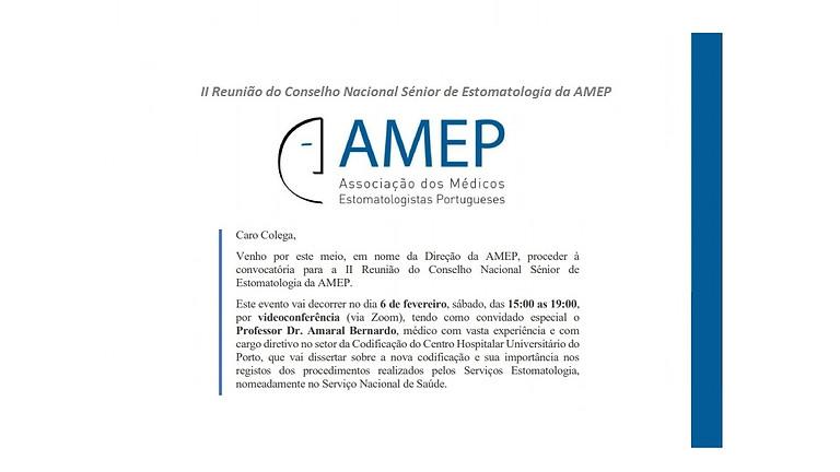 II Reunião do Conselho Nacional Sénior de Estomatologia da AMEP
