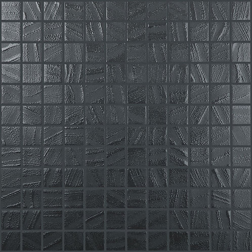 Arts Black Anthracite glasmozaïek 25X25MM tegels
