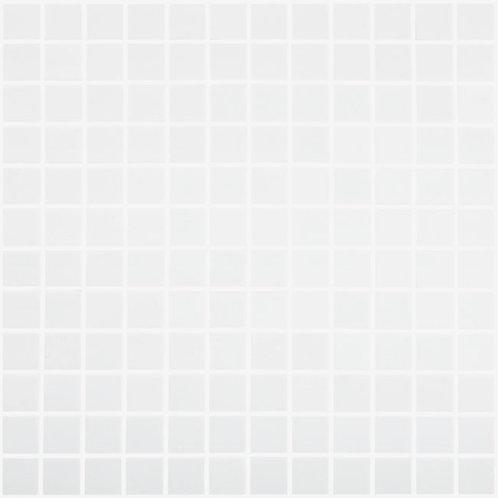 Nordic White Mat glasmozaïek 25X25MM tegels
