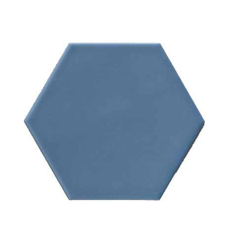 Hexagon mat blauw 15x17 vloertegels/wandtegels