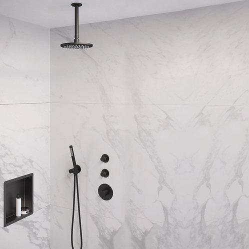 Brauer Black Edition thermostatische inbouw doucheset - 20cm - plafond - staaf