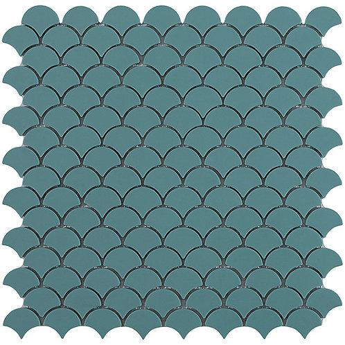 Matt Green Vidrepur visschub glasmozaïek tegels