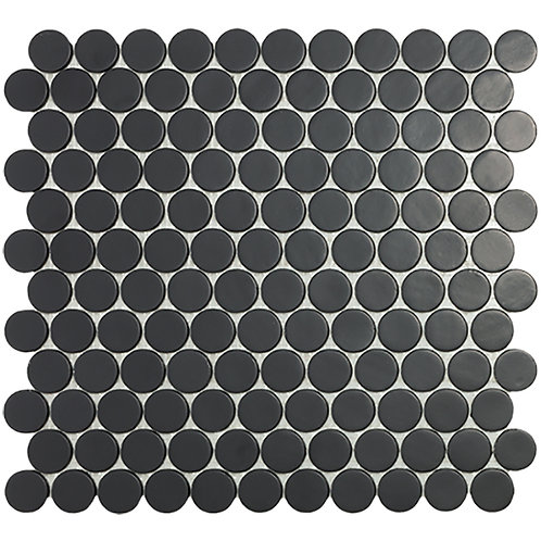 Circle Black Mat glasmozaïek 25CX25CMM tegels