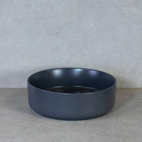 Waskom mat donkergrijs 37x12 cm. keramiek