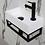 Thumbnail: INK fontein versus met zwart stalen frame (36x18x9)