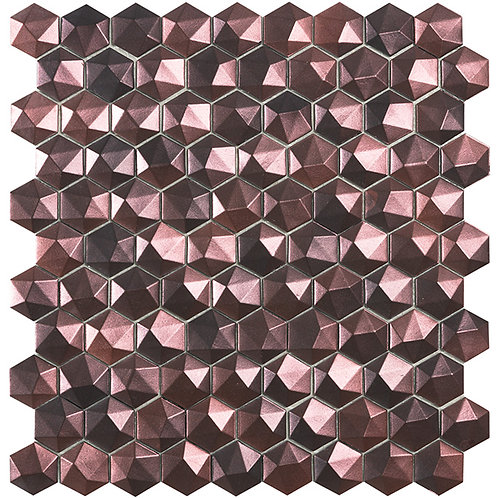 Magic Bronze 3D hexagon glasmozaïek 25X25MM tegels
